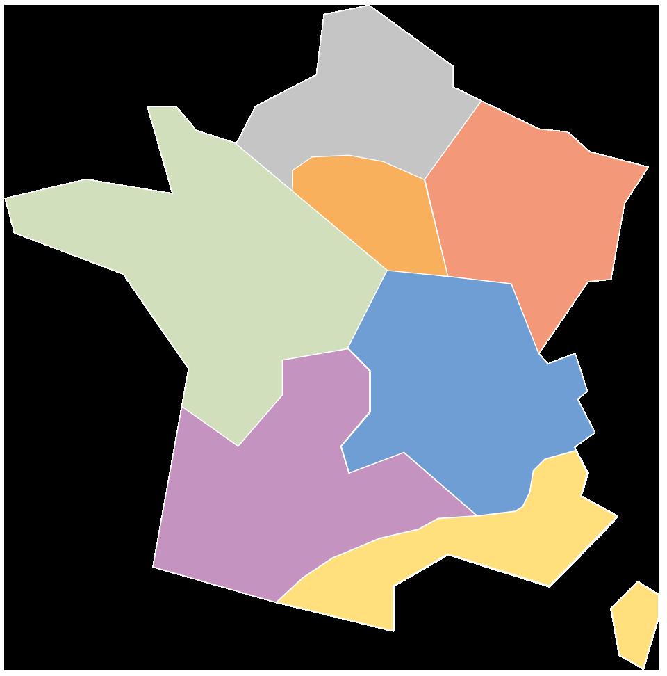 Carte des commerciaux de Sempatap France