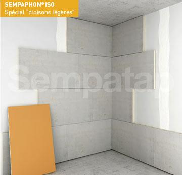 La solution d'isolation phonique et thermique SempaPhon ISO est parfait pour une pose murale sur cloison légère.