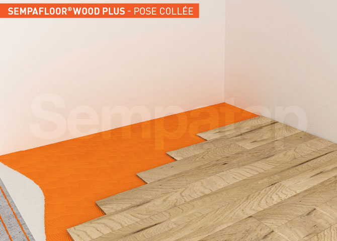 SempaFloor Wood Plus, isolation phonique sous parquet collé