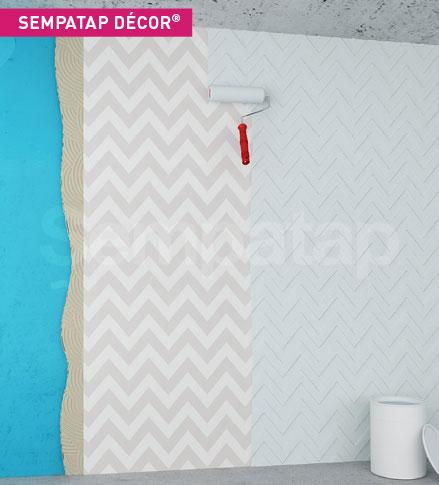 SempaTap Décor est un produit d'isolation thermique et d'absorption acoustique, anti-fissures, idéal pour la décoration des lieux publics.