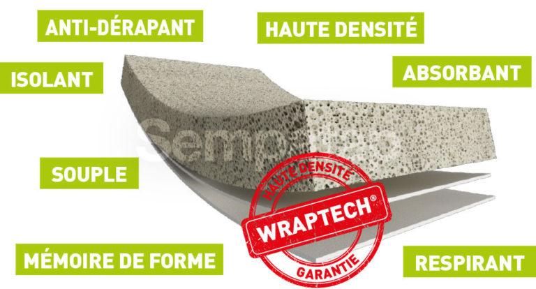 Découvrez les caractéristiques de Wraptech, mousse latex haute densité
